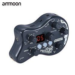 ammoon PockRock Guitar Multi-effects Processor Effect Pedal 15 Effect Types 40 Drum Rhythms Tuni ...