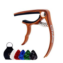 Ohuhu Guitar Capo for Acoustic, Electric Guitars, Ukulele, Zinc Alloy- Quick Change Guitar Capo  ...
