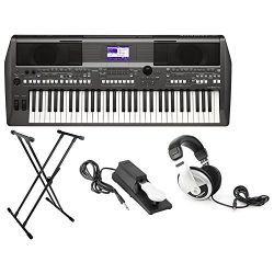 Yamaha PSR-S670 61-Key Arranger Workstation Keyboard with Onboard Stereo Speakers and MegaVoice  ...
