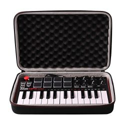 LTGEM Travel Hard Carrying Case for Akai Professional MPK Mini MKII | 25-Key Ultra-Portable USB  ...