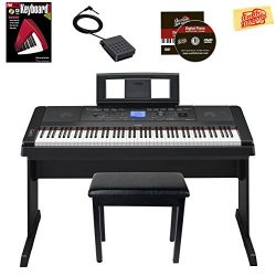 Yamaha DGX-660 Digital Piano – Black Bundle with Furniture Bench, Instructional Book, Aust ...