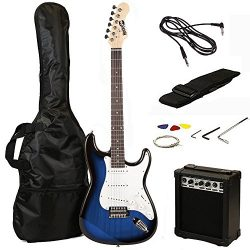 RockJam RJEG02 Electric guitar Starter Kit – Includes Amp, Lessons, Strap, Gig Bag, Picks, ...