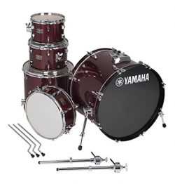 Yamaha Rydeen 5pc Shell Pack with 22″ Bass Drum, Burgundy Glitter