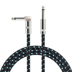 Mugig Guitar Cable 16 Feet for Electric Guitar / Bass / Keyboard Professional Instrument Cable w ...