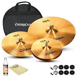 Zildjian Complete Cymbal Set: ZBT 20″ Ride (ZBT20R), ZBT 14″ HiHats (ZBT14HP), ZBT 1 ...