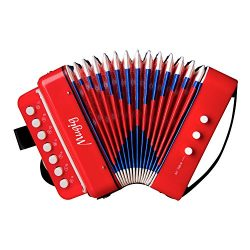 Accordion, piano for kids, musical toys, accordion kids, [2018 upgrade], Sound Toys Ten Keys Sol ...