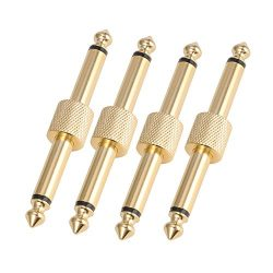 Donner Pedal Coupler 1/4 inch For Guitar Effect Pedal Connector 4 Pack