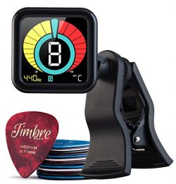 TimbreGear Beast Chromatic Clip-On Tuner Guitar Tuner For – Acoustic Guitar, Electric Guit ...