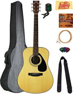 Yamaha F325D Dreadnought Acoustic Guitar Bundle with Gig Bag, Tuner, Strings, Strap, Picks, Aust ...