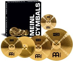 Meinl Cymbals HCS141620+10 HCS Pack Cymbal Box Set with 14″ Hi-Hat Pair, 16″ Crash,  ...