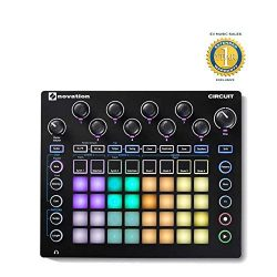 Novation Circuit Drum Machine, Pad Controller Grid-Based Groove Box with 1 Year Free Extended Wa ...