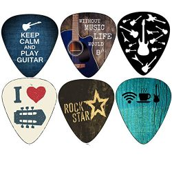 Cool Guitar Picks Guitar Accessories (12pc)- Assorted Light Medium Heavy Gauge – for Acous ...