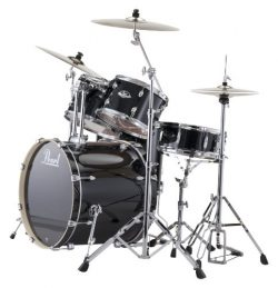 Pearl EXX725/C 5-Piece Export Standard Drum Set with Hardware – Jet Black