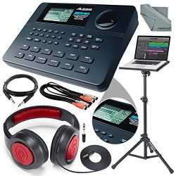 Alesis SR-16 16-Bit Stereo Drum Machine and Platinum Bundle w/ Laptop Stand, Headphones, Cables  ...