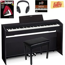 Casio Privia PX-870 Digital Piano – Black Bundle with Furniture Bench, Headphones, Instruc ...