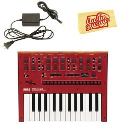 Korg Monologue Monophonic Analog Synthesizer – Red Bundle with Power Supply and Austin Baz ...