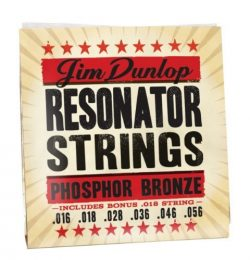 Dunlop DOP1656 Resonator Strings, Phosphor Bronze, Medium, .016–.056, 6 Strings/Set