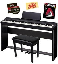 Casio Privia PX-160 Digital Piano – Black Bundle with CS-67 Stand, SP-33 Pedal, Furniture  ...