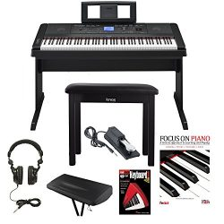 Yamaha DGX-660 88 Weighted Keys Digital Piano Bundle with Knox Bench, Dust Cover,Headphones, Sustain