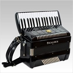 Excalibur German Weltbestin UltraLite 72 Bass Piano Accordion – Black