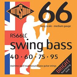 Rotosound RS66LC Swing Bass 66 Stainless Steel Bass Guitar Strings ((40 60 75 95)