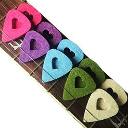 MIBOW Ukulele Picks,Multi-color Felt Picks,Guitar Picks,For Guitar,Bass,Ukulele,Mandolin,Banjo,1 ...
