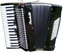 Scarlatti 72 Bass Accordion – Black