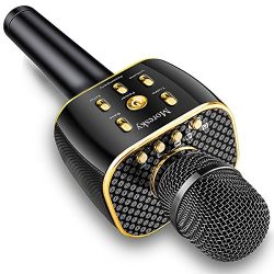 Moresky Karaoke Microphone Wireless Handheld Mic Bluetooth Speaker for Apple iPhone Android Sams ...