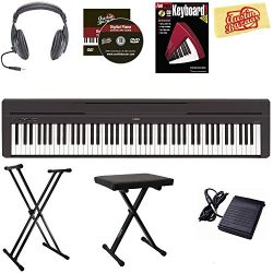 Yamaha P-45 Digital Piano – Black Bundle with Stand, Bench, Headphones, Instructional Book ...
