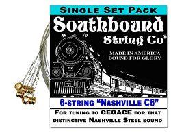 """Nashville C6"" 6-String Lap Steel Guitar String Set – Get that Honky Tonk Sound!"