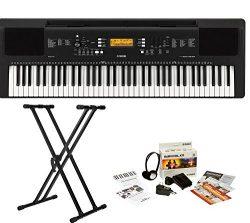 Yamaha PRSEW300 76 Key Portable Keyboard With Knox Adjustable Stand & Power Adapter