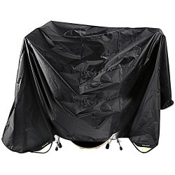 Neewer® Black 80 x 108 Inches Drum Set Dust Cover Water-Resistant Nylon Cover With Sewn-in Weigh ...