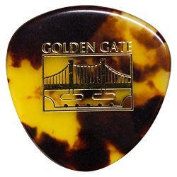 Golden Gate MP-12 Deluxe Tortoise Style Mandolin Pick – Rounded Triangle – Dozen