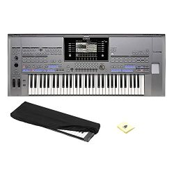 Yamaha TYROS5-61 61-Key Flagship Arranger Keyboard With Kaces KKC-SM – Stretchy Keyboard D ...