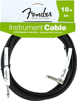 Fender Performance Series Instrument Cables (Straight-Right Angle) for electric guitar, bass gui ...