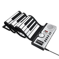New Upgraded ALWOA Roll Up Keyboard Piano, 4 Modes 61 Keys Portable Piano Electric Digital Music ...