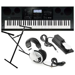 Casio WK7600 Workstation Keyboard w/ Stand, Sustain Pedal, and Headphones