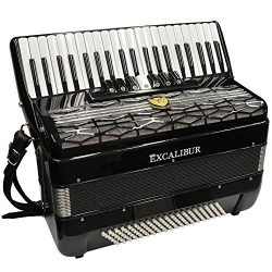 Excalibur Super Classic Accordion – 120 Bass, 7 Switch – Black
