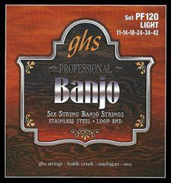GHS GHS PF120 6STR BANJO STR SET SST (Standard)