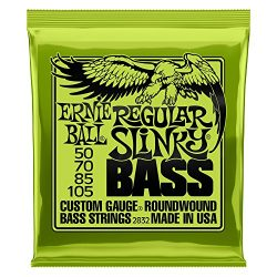 Ernie Ball Regular Slinky Nickel Wound Bass Set, .050 – .105