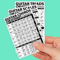 Guitar Cheatsheets Bundle (Chords, Scales, and Triads Cheatsheet 3 Pack • Laminated Pocket Refer ...