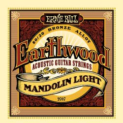 Ernie Ball Earthwood Mandolin Light 80/20 Bronze Loop End Set, .009 – .034