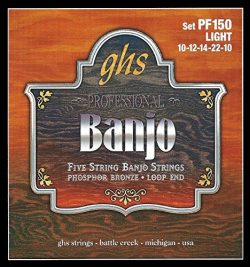 GHS Strings PF150 5-String Banjo Strings, Phosphor Bronze, Light (.010-.022)