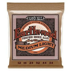 Ernie Ball 2146 Earthwood Medium Light Acoustic Phosphor Bronze String Set (12 – 54)