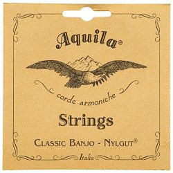 Aquila New Nylgut AQ-5B Banjo Strings – Medium Tension DBGDG – 1 Set of 5