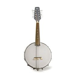 Pyle PBJ20 8-String 23-Inch Total Length Mandolin-Banjo Hybrid with White Jade Tuner Pegs, Rosew ...