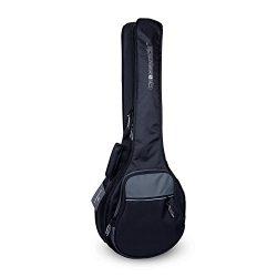 Crossrock CRSG106BJBG Padded Gig Bag for Open Back & Resonator Banjos, Backpack Straps, Blac ...