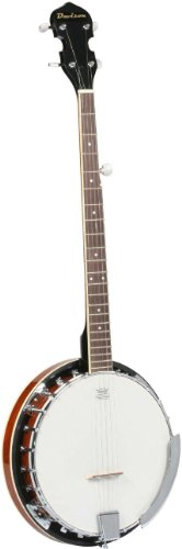 Jameson Guitars BANJO LH 5 String 24 Bracket with Closed Solid & Geared 5th Tuner Back By Le ...