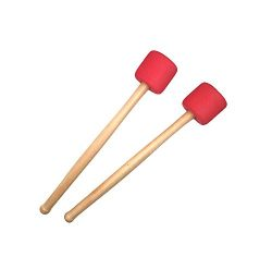 Timiy 2pcs Bass Drum Mallets Sticks Foam Mallet Percussion with Wood Handle 12.8 Inch Long