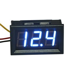"GEREE 0.56"" Blue Digital Display DC 0-300V Digital Voltmeter 3 Digit LED Voltage Monitor T ..."